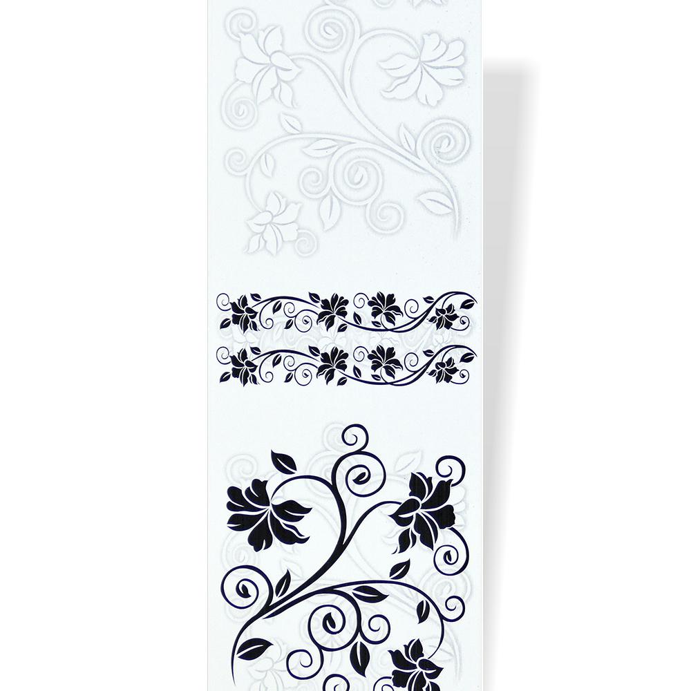 Белые пластиковые панели с рисунком