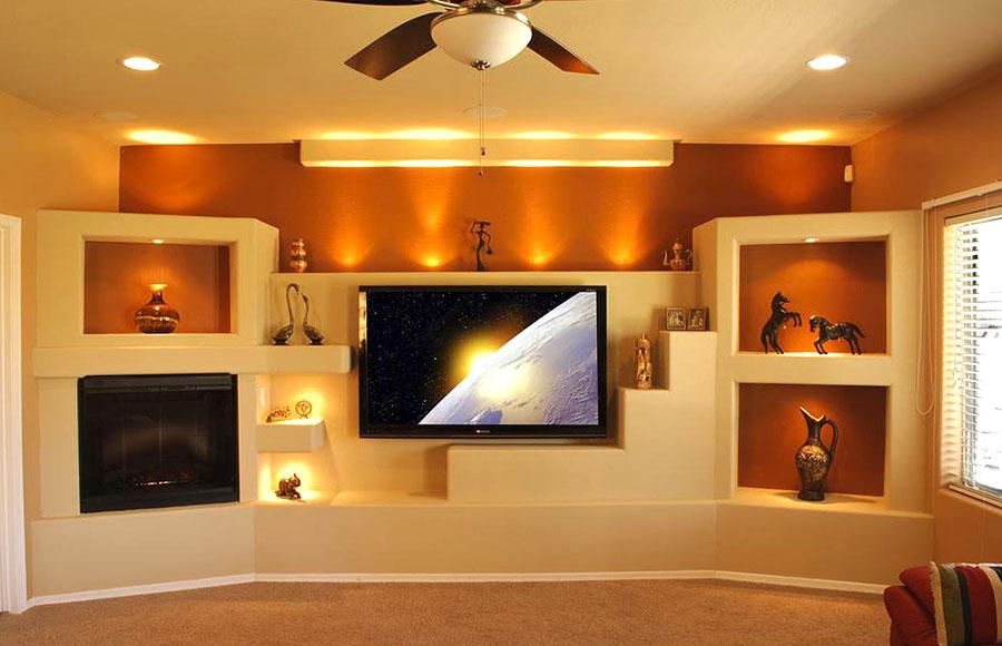 Как сделать нишу в стене для телевизора