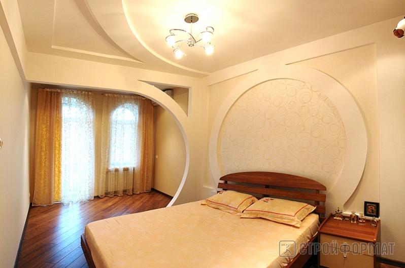 Интерьер потолка из гипсокартона фото