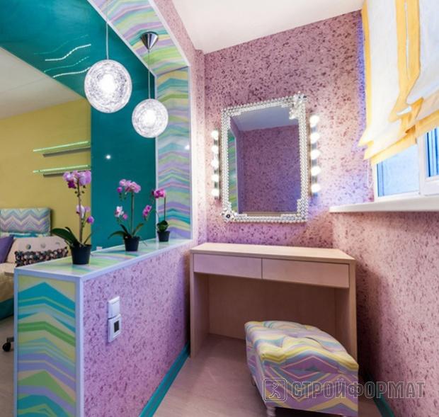 Дизайн спальня на лоджии