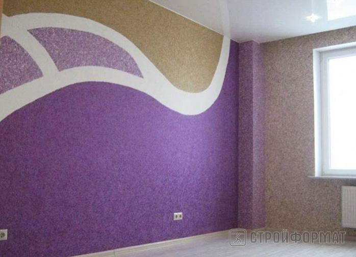 Дизайн комнаты жидкие обои