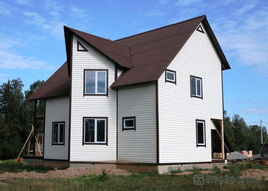 Белый сайдинг фото домов